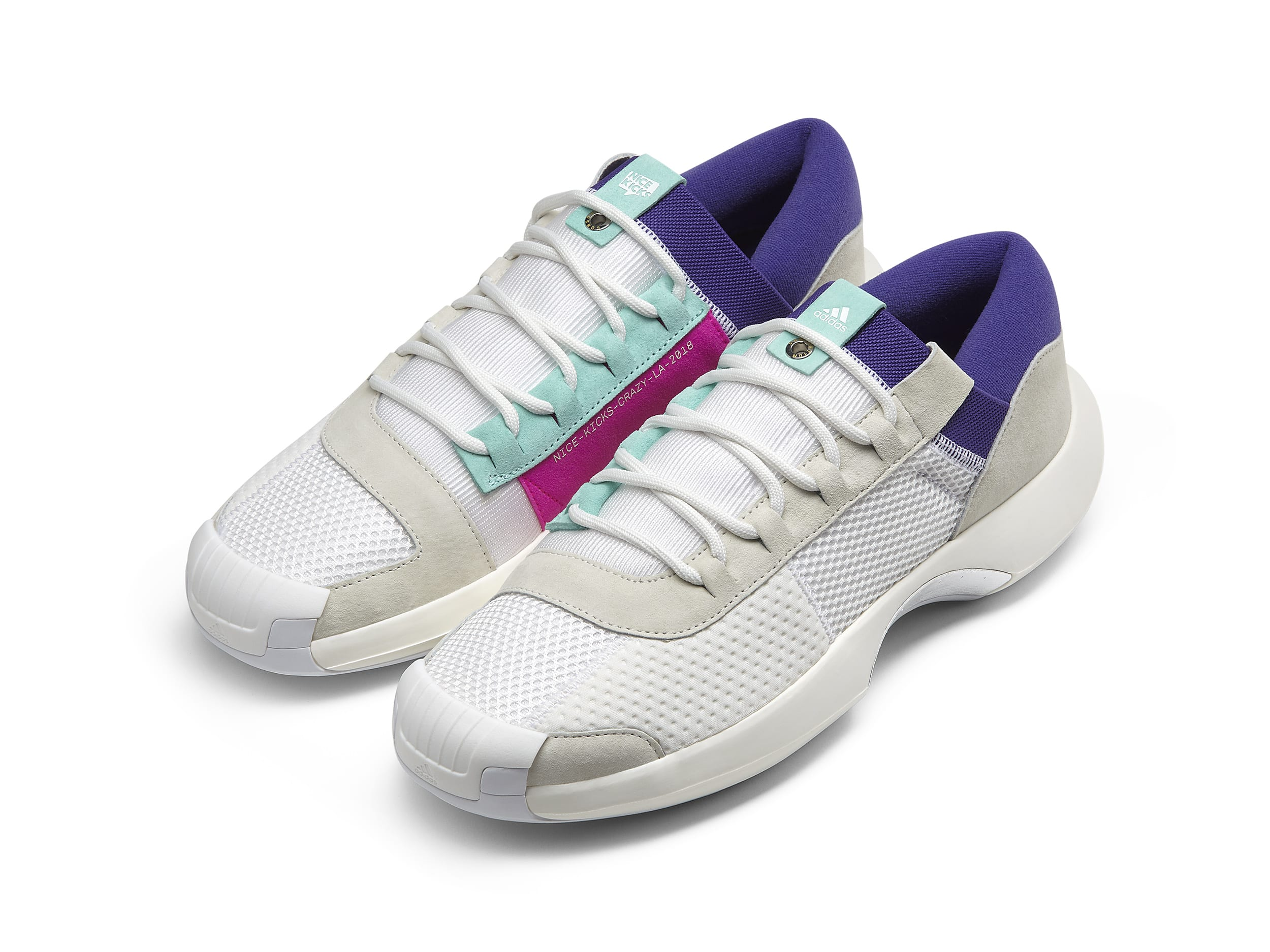 finest selection e6285 22c49 Crazy 1 ADV Nice Kicks Mesh upper with suede overlays. Color White   Energy Aqua  Energy Ink  Shock Pink