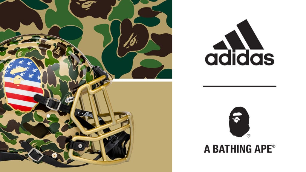 3ae5f76fa adidas by BAPE  Superbowl collection