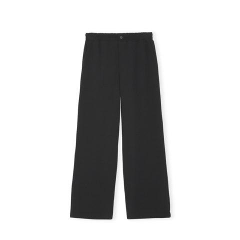 Ganni F4802 HEAVY CREPE PANTS, Black