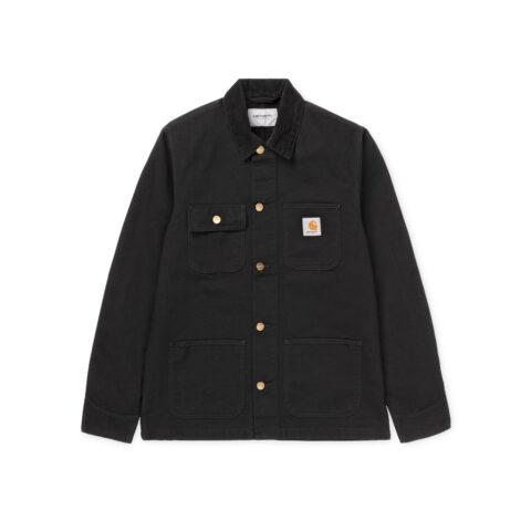 Carhartt WIP MICHIGAN COAT, Black Rinsed