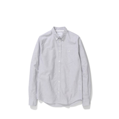 Norse Projects ANTON OXFORD, Magnet Grey Stripe