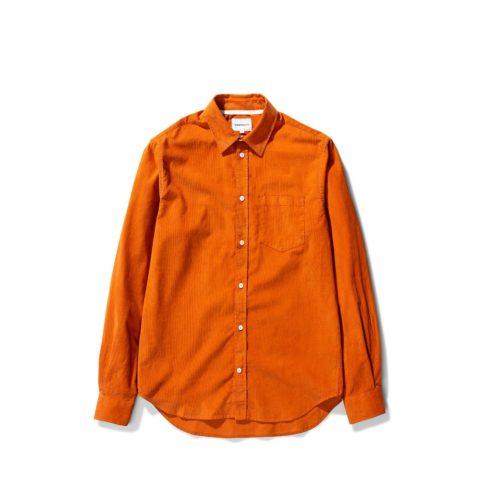 Norse Projects OSVALD CORDUROY SHIRT, Cadmium Orange
