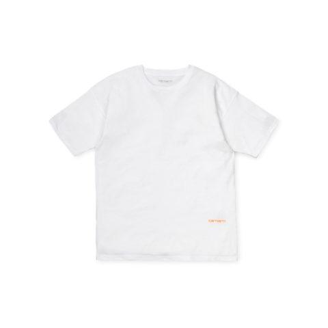 Carhartt WIP W' NEO T-SHIRT, White/Orange