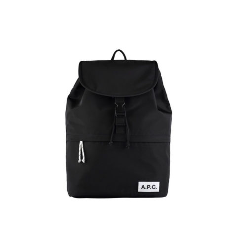 A.P.C. PROTECTION SNAP-BUCKLE BACKPACK, Black