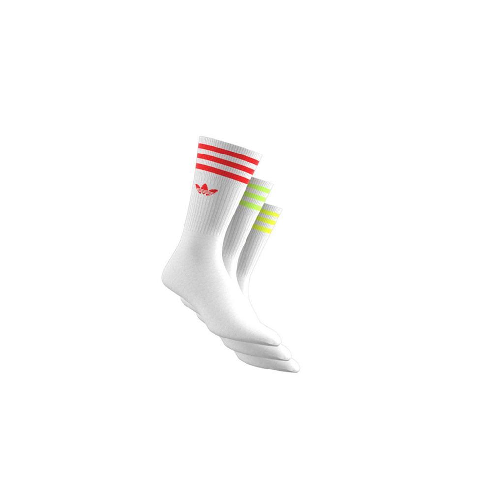 Buzo Soviético luto  Adidas SOLID CREW SOCK 3-PACK, White Neon | Beamhill