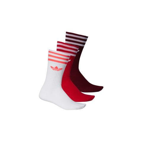 Adidas SOLID CREW SOCK 3-PACK, Burgundy