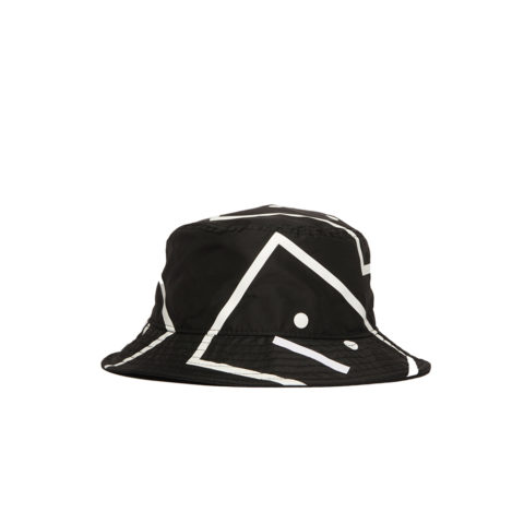 Acne Studios FACE MOTIF BUCKET HAT, Black