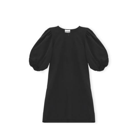 Ganni F5022 MINI DRESS, Black