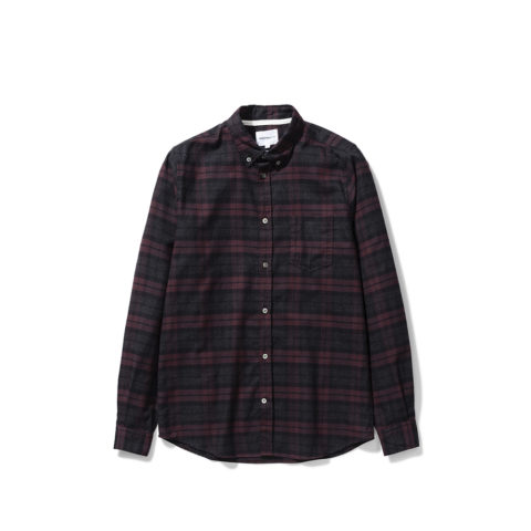 Norse Projects ANTON BRUSHED FLANNEL CHECK, Eggplant