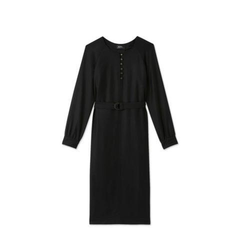 A.P.C. NICOLETTE DRESS, Black