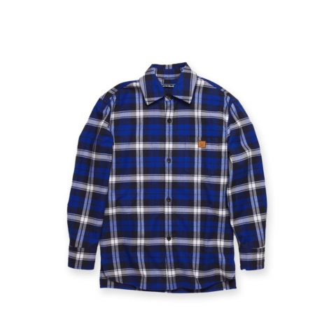 Acne Studios FLANNEL OVERSHRIT, Electric blue/Off white