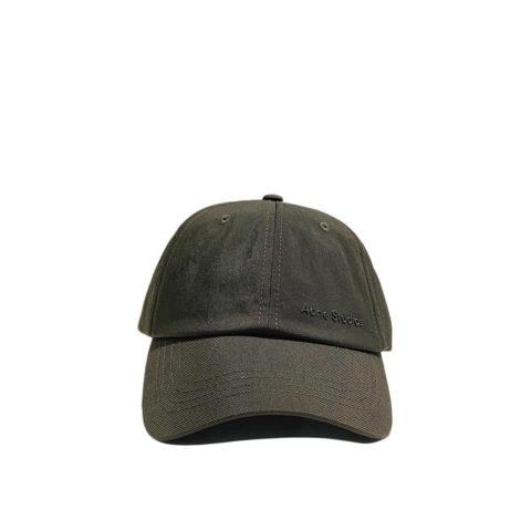 Acne Studios NYLON BASEBALL CAP, Cedar Green