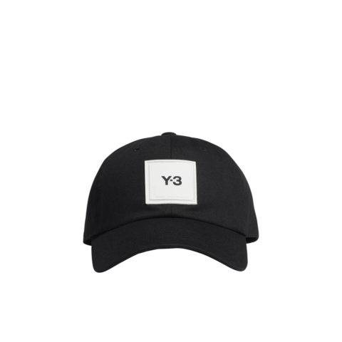 Y-3 SQUARE LABEL CAP, Black