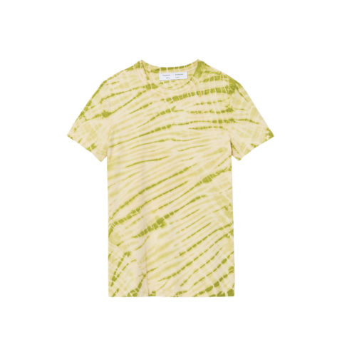 PSWL TIE DYE T-SHIRT, Olive Green/Pale Yellow