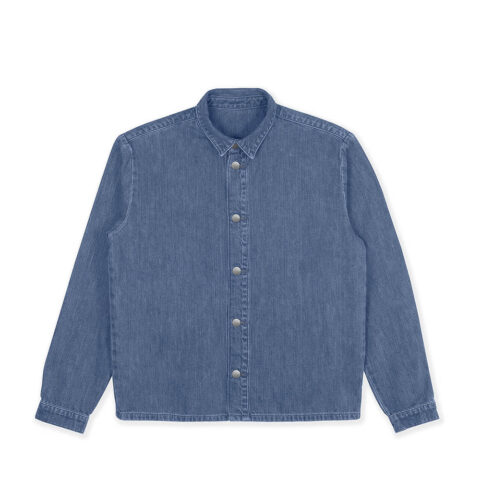 Non COLLARED OVERSHIRT, Washed