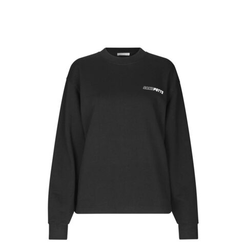 Saks Potts KEN CREWNECK, Black