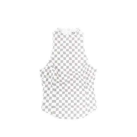 MISBHV REFLECTIVE MONOGRAM LARA TOP, White
