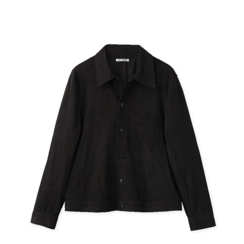 Our Legacy REINCARNATION SUEDE SHIRT, Black Suede