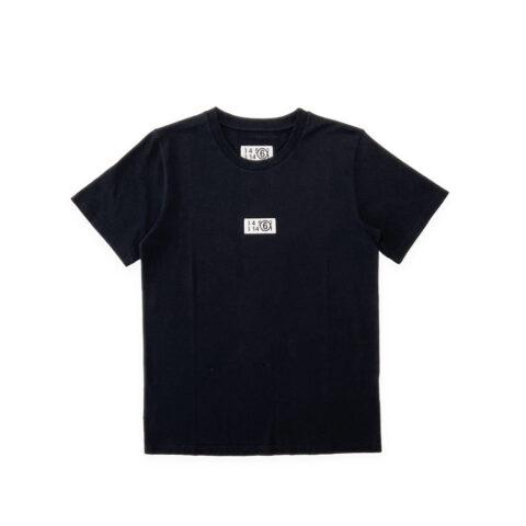 MM6 LOGO LABEL T-SHIRT, Black