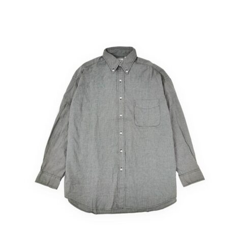 Orslow LOOSE FIT BUTTON DOWN SHIRT, Gray Check