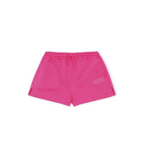 Ganni SOFTWARE ISOLI DRAWSTRING SHORTS, Shocking Pink