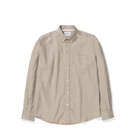 Norse Projects ANTON BRUSHED FLANNEL, Utility Khaki