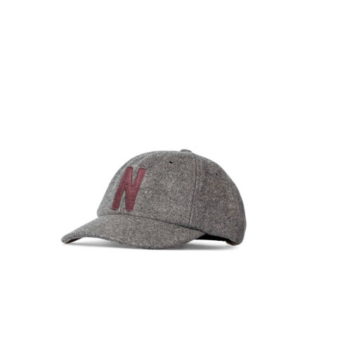 Norse Projects WOOL SPORTS CAP, Charcoal Melange