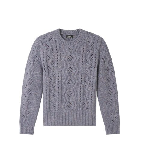 A.P.C. ALISSANDRE JUMPER, Heather Blue-Grey