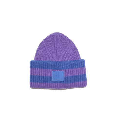 Acne Studios PANSY N FACE BEANIE, Purple/Blue