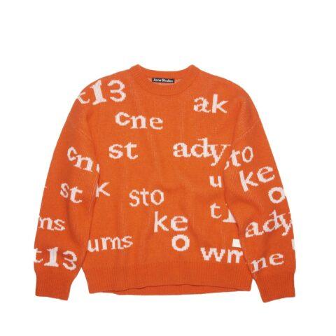 Acne Studios CREW NECK SWEATER, Mandarin Orange