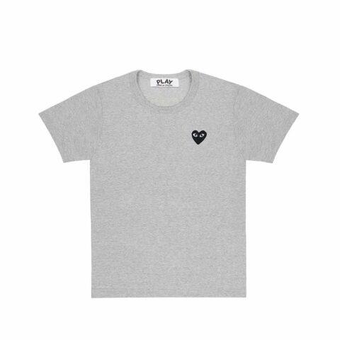Comme des Garçons PLAY M'S BLACK HEART T-SHIRT, Grey